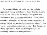 box 4 judicial precedent interpretation1