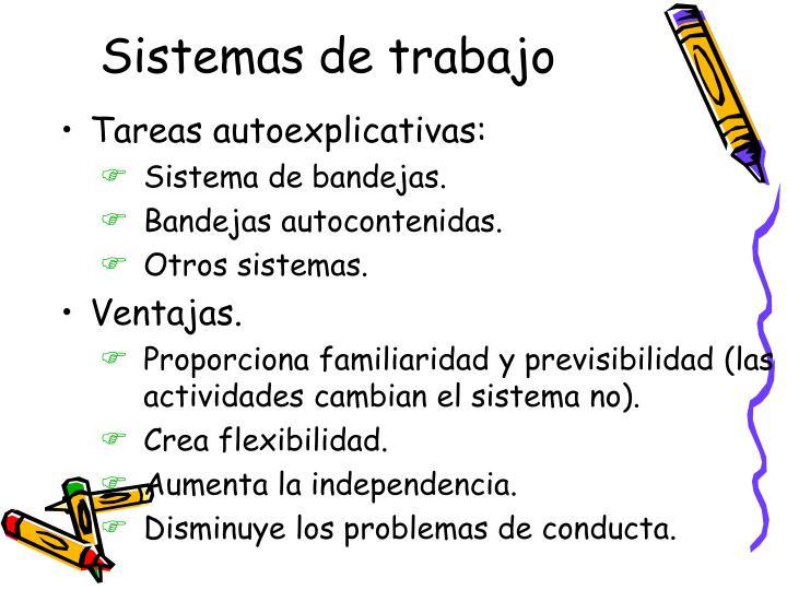 Sistemas de trabajo