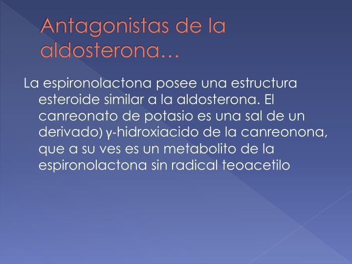 Antagonistas de la aldosterona…
