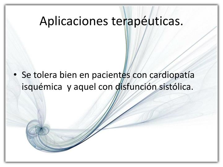 Aplicaciones terapéuticas.