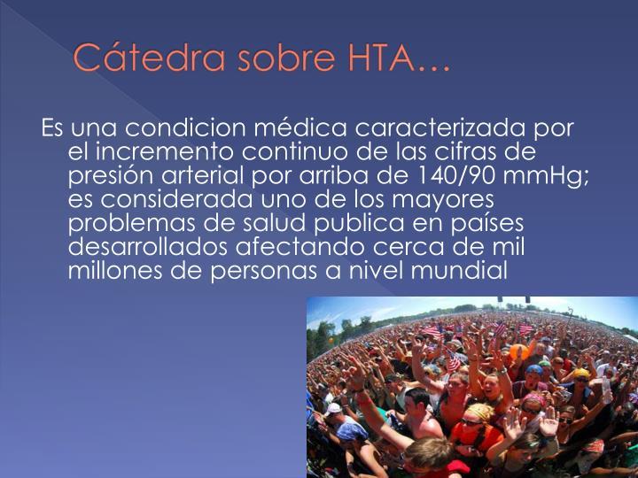 Cátedra sobre HTA…