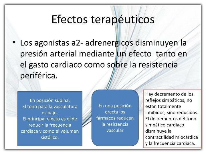 Efectos terapéuticos