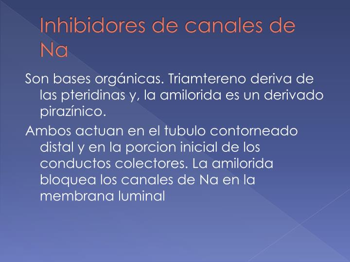 Inhibidores de canales de