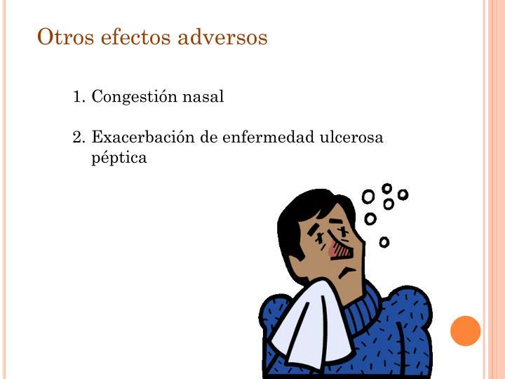 Otros efectos adversos