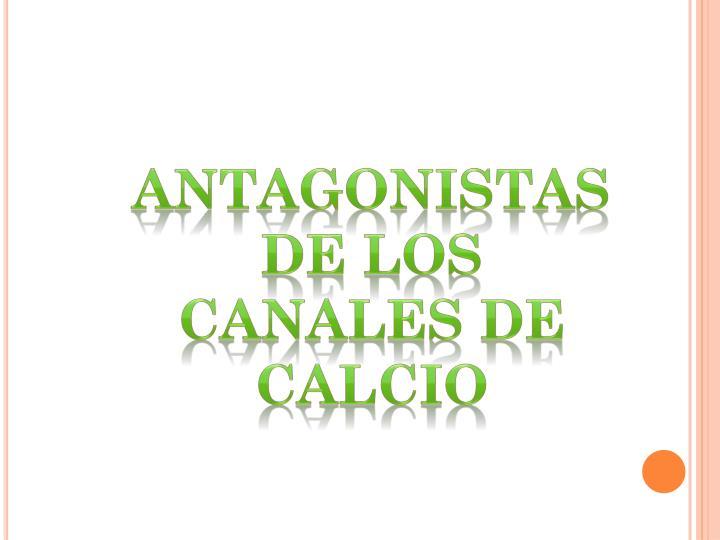 Antagonistas de los canales de calcio