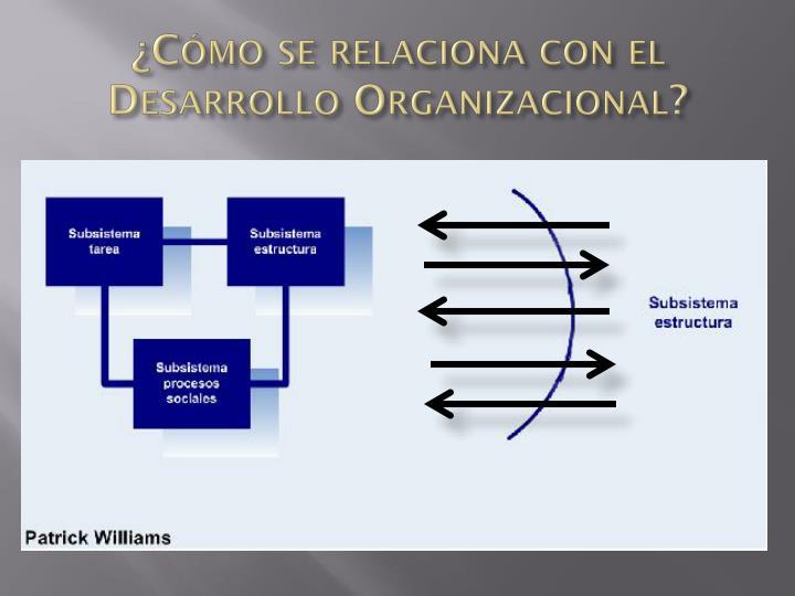 ¿Cómo se relaciona con el Desarrollo Organizacional?