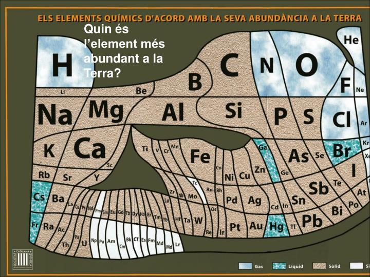 Quin és l'element més abundant a la Terra?