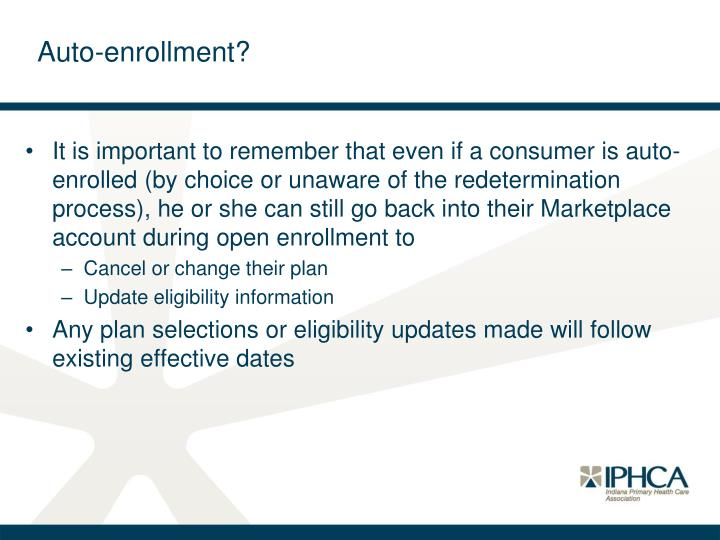 Auto-enrollment?