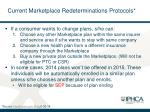 current marketplace redeterminations protocols1