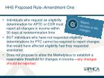 hhs proposed rule amendment one