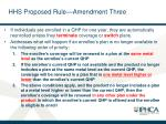 hhs proposed rule amendment three