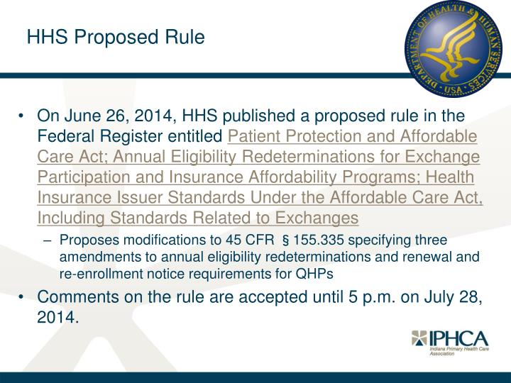 HHS Proposed Rule