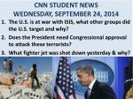cnn student news wednesday september 24 2014