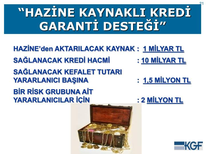 """""""HAZİNE KAYNAKLI KREDİ GARANTİ DESTEĞİ"""""""