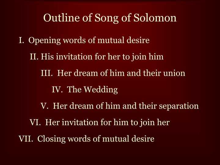 Outline of Song of Solomon