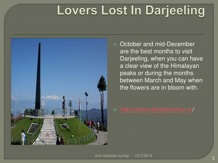 Lovers Lost In Darjeeling