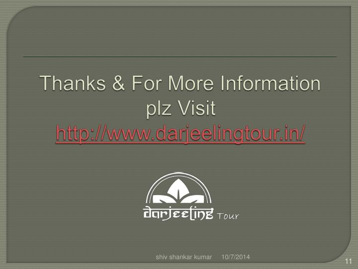 Thanks & For More Information plz Visit