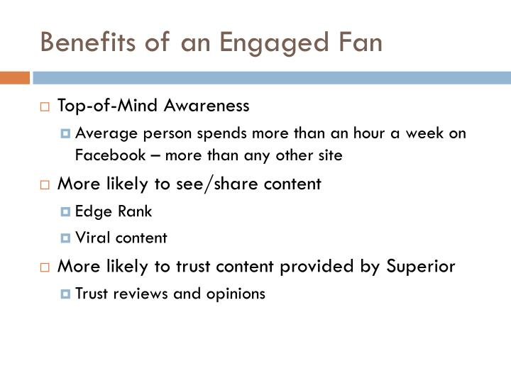 Benefits of an Engaged Fan