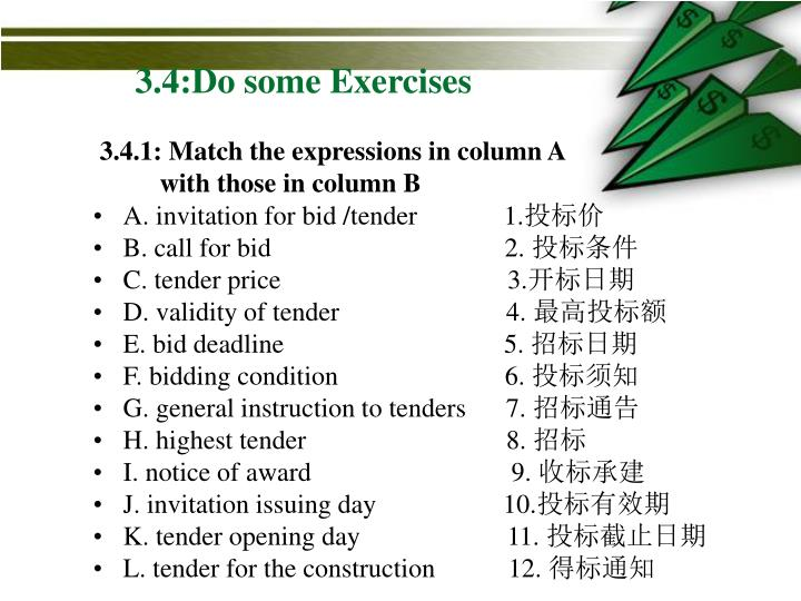 3.4:Do some Exercises