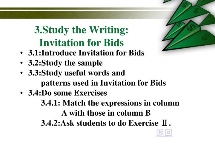 3 study the writing invitation for bids