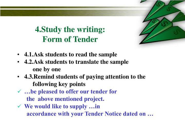 4.Study the writing: