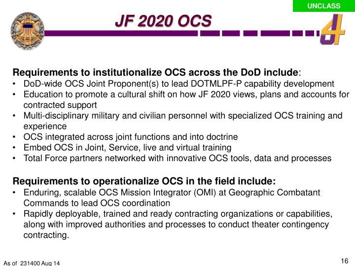 JF 2020 OCS