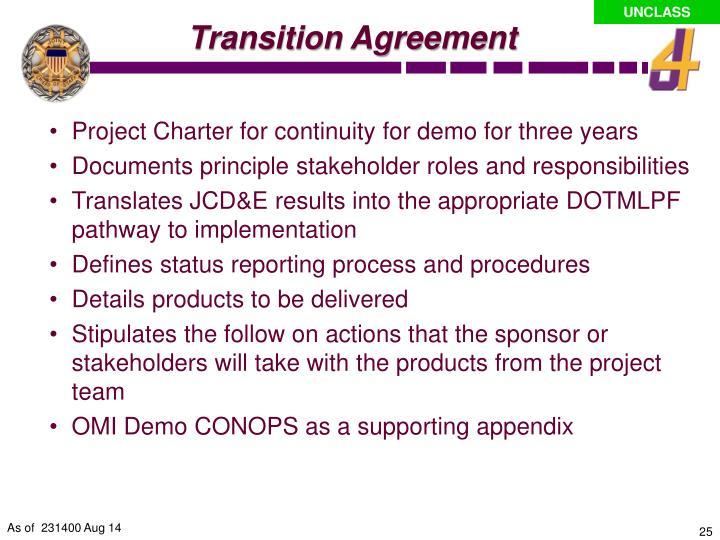 Transition Agreement