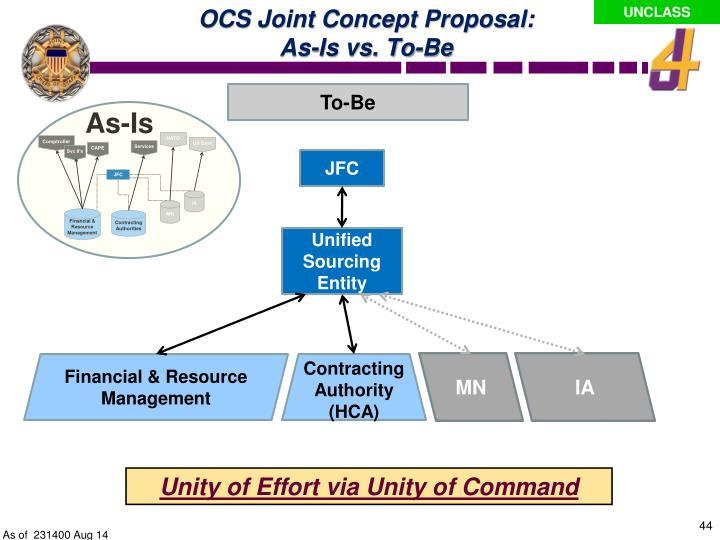 OCS Joint Concept Proposal: