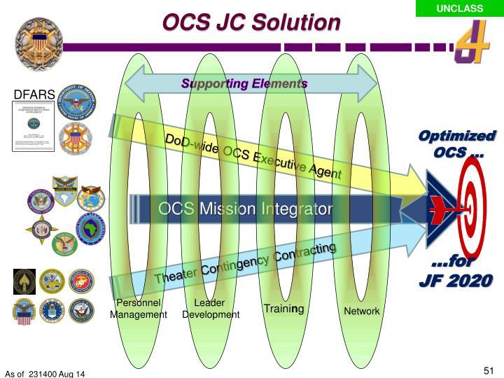 OCS JC Solution