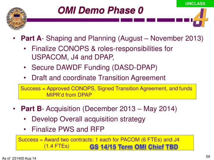 OMI Demo Phase 0