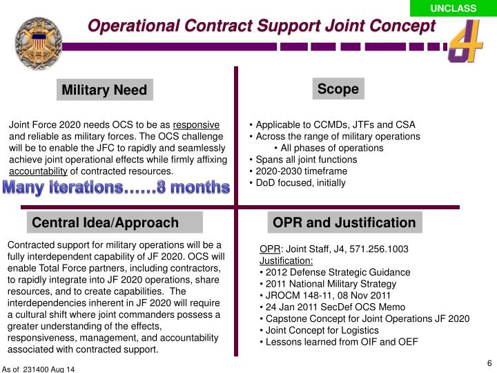 Operational Contract Support Joint Concept