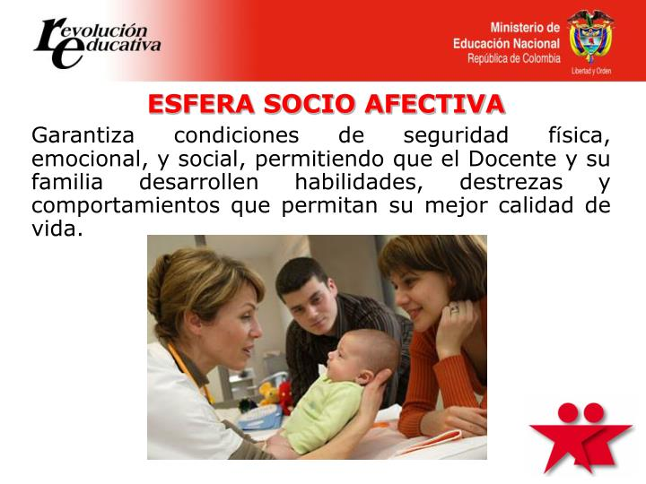 ESFERA SOCIO AFECTIVA