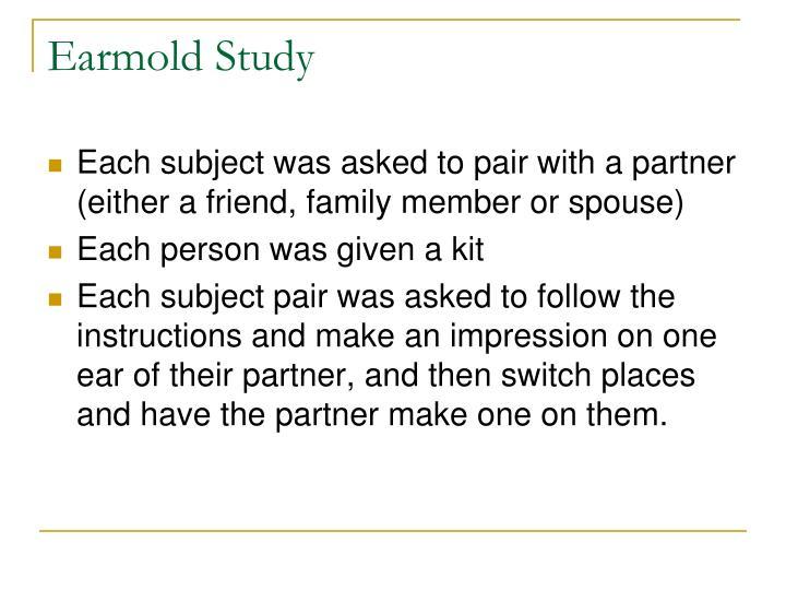 Earmold Study