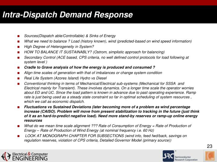 Intra-Dispatch Demand Response