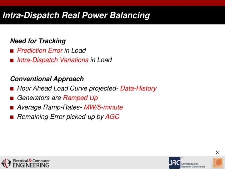 Intra dispatch real power balancing