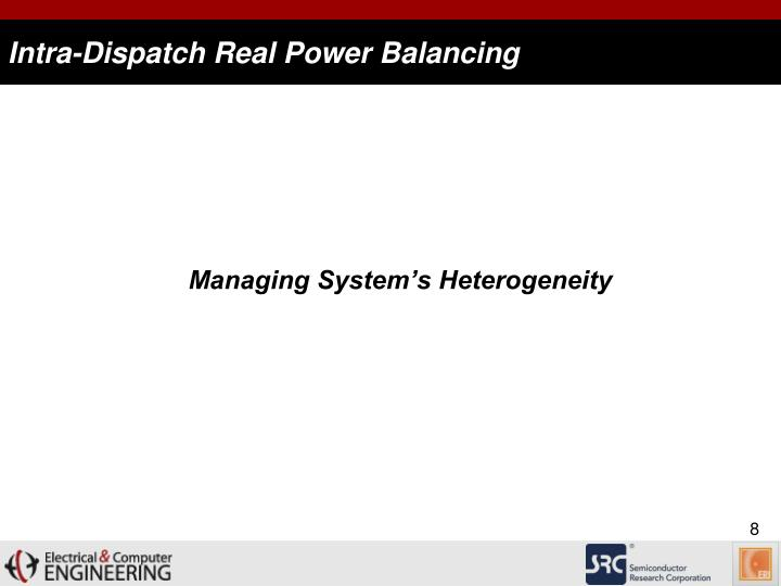 Intra-Dispatch Real Power Balancing