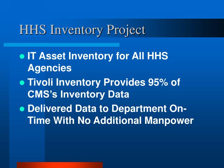 HHS Inventory Project
