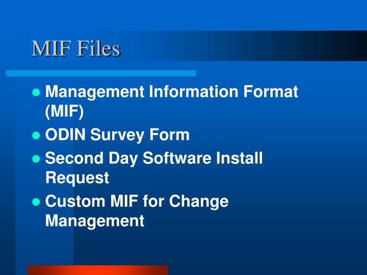 MIF Files