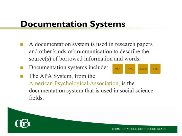 Documentation Systems