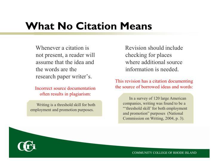 What No Citation Means