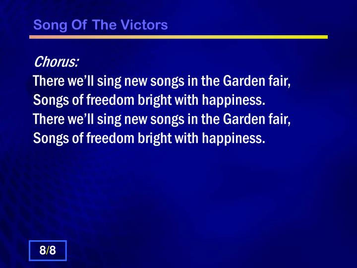 Song Of The Victors