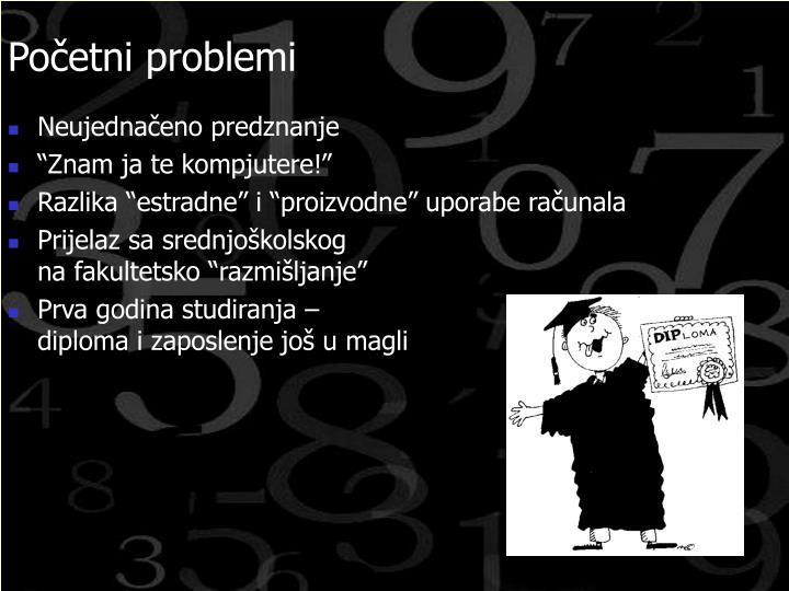 Početni problemi