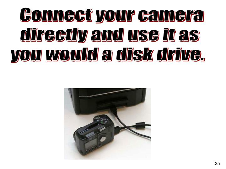 Connect your camera