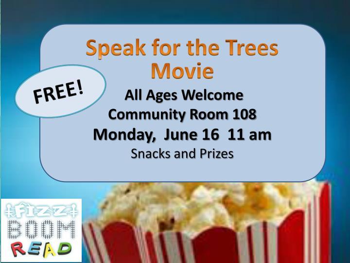 Speak for the Trees Movie