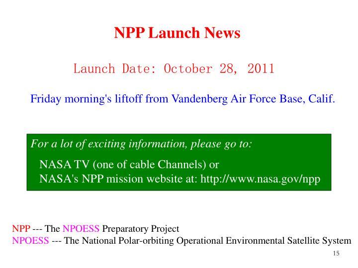 NPP Launch News