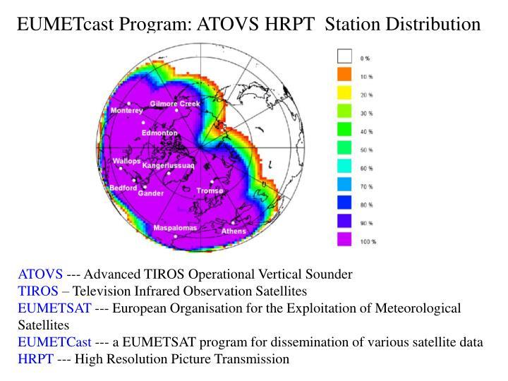 EUMETcast Program: ATOVS HRPT  Station Distribution