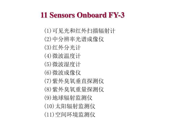 11 Sensors Onboard FY-3