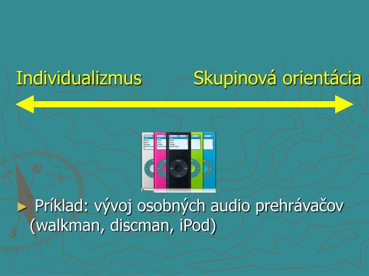 Príklad: vývoj osobných audio prehrávačov (walkman, discman, iPod)