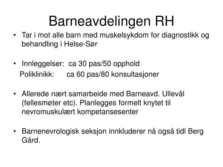 Barneavdelingen RH