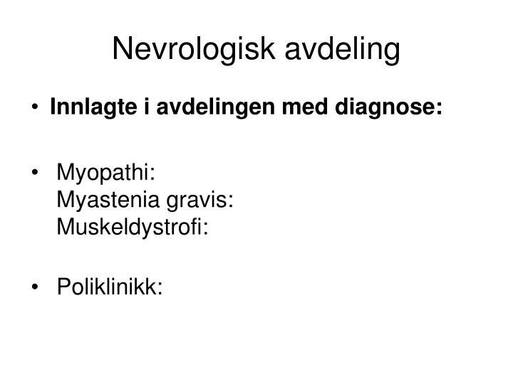 Nevrologisk avdeling